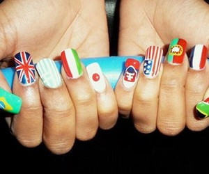 nails and flag image