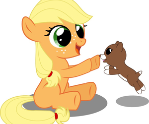 baby, dog, and my little pony image