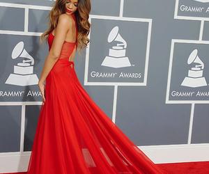 rihanna, dress, and red image