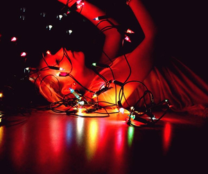 colorful, lights, and swag image