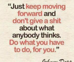 quote, johnny depp, and text image
