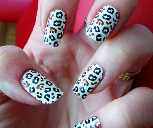 <3, leopard, and nails design image