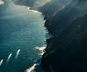 ocean, sea, and mountains image