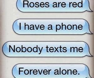 text, alone, and phone image