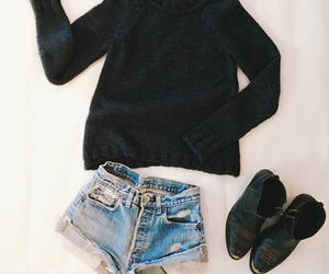 sweater, black, and outfit image