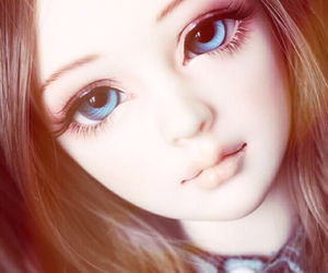 blue eyes, doll, and girl image
