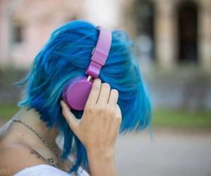 alternative, blue hair, and girl image