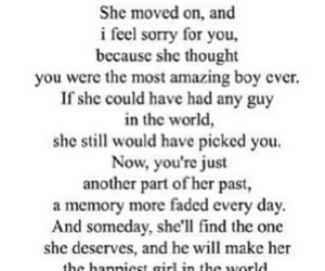 quote, sad, and moved on image