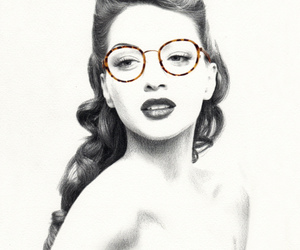 drawing and glasses image