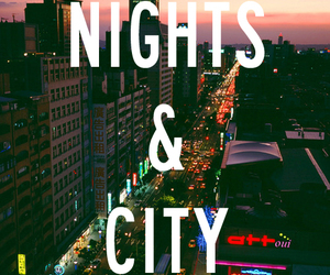 city, nights, and sumer image