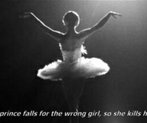 black swan, ballet, and quotes image