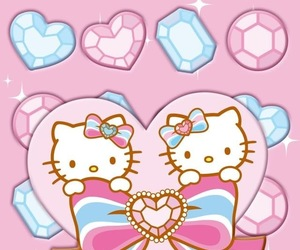 cute wallpaper, hello kitty, and iphone wallpaper image