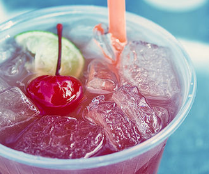 cherry, food, and ice image