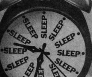 sleep and black and white image
