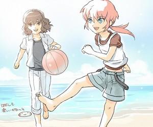 beach, boys, and anime boys image