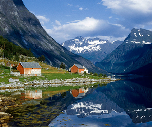 mountain, norway, and travel image
