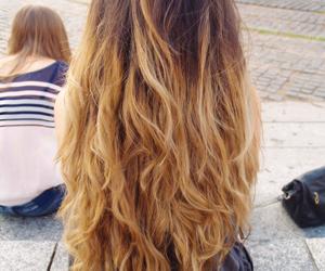 beautiful hair, curly hair, and hair image