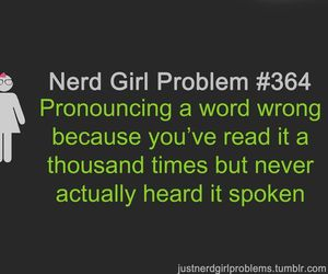 nerd, problem, and text image