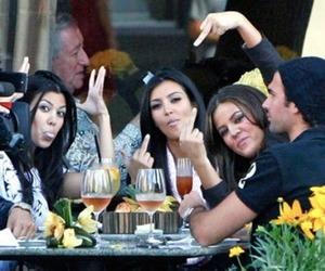 fuck, kourtney kardashian, and kim kardashian image