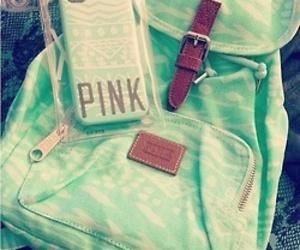 bag, green, and phone image
