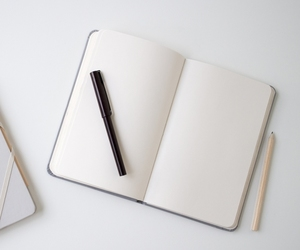 notebook, book, and write image