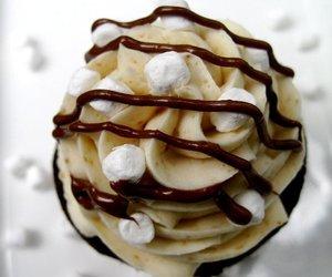 baby, chocolate, and cupcake image