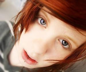 baby, orange hair, and beautiful eyes image