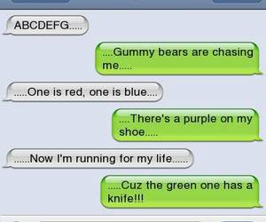 funny, gummy bears, and song image