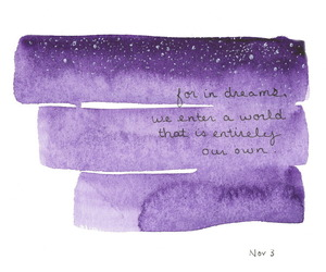 Dream, quote, and purple image