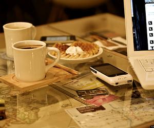 coffee and waffles image