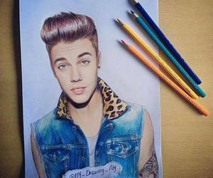 justin bieber, drawing, and perfect image