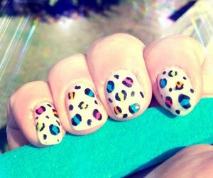 azul, fofo, and nails image