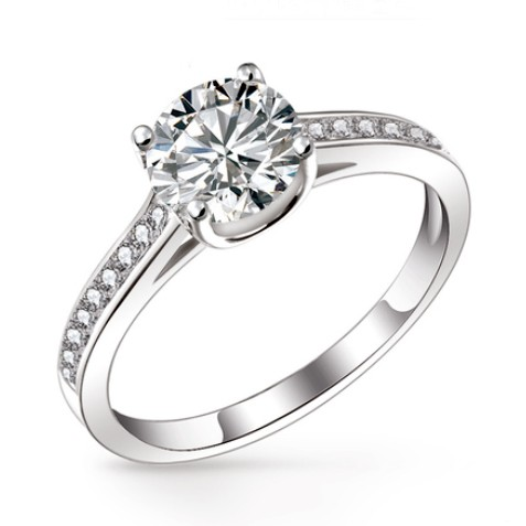 affordable diamond wedding ring for women with custom engraving - Women Wedding Ring