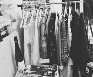 black and white, clothes, and fashion image