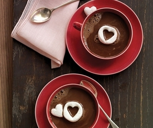 coracao, heart, and hot chocolate image