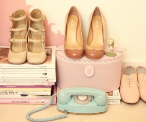 shoes, the cherry blossom girl, and pastel image
