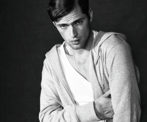 black and white, guy, and male model image
