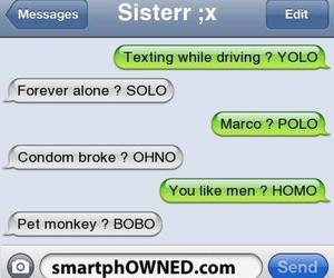 lol and text message image