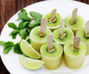 kiwi, food, and fruit image