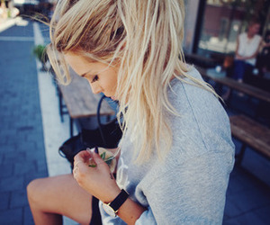 blonde, girl, and fashion image
