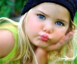 baby, blonde, and blue image