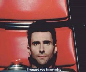 hug, adam levine, and the voice image