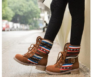 boots, combat boots, and fall fashion image