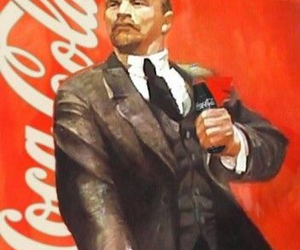 coca-cola, lenin, and illustration image