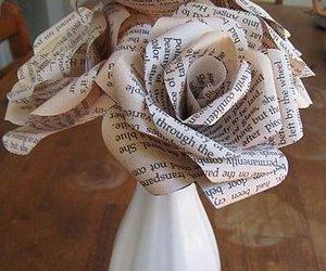 flower, page, and letters image