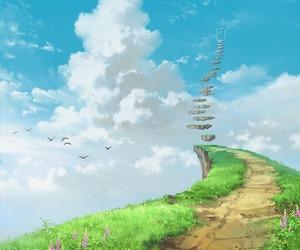 path and sky image