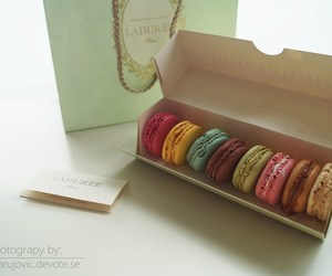 france, happy, and macarons image