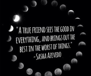 friends, quote, and moon image