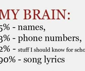brain, funny, and school image