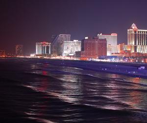 atlantic city, blue, and boardwalk image